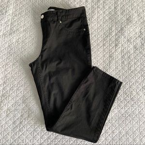 DKNYC black stretch ankle jeans